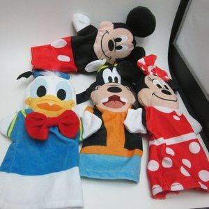 Mickey Mouse and friends hand puppets
